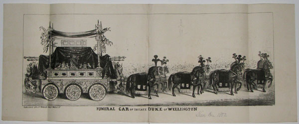 Funeral Car of the late Duke of Wellington.