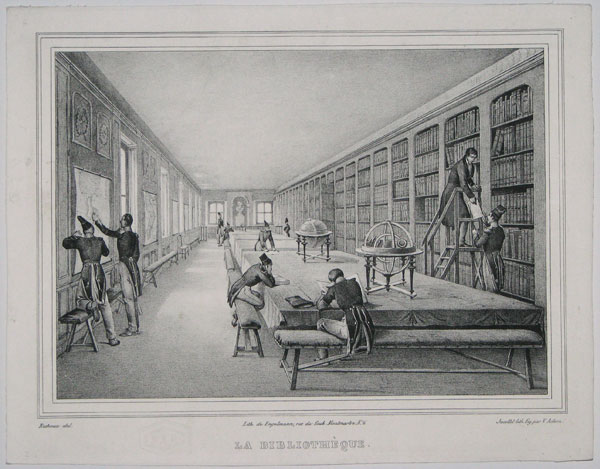 La Bibliotheque. [The Library.]