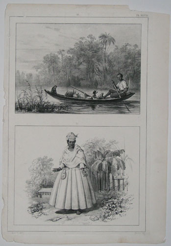 Pl. XLVIII.  [Scenes of everyday life in Suriname, South America.]