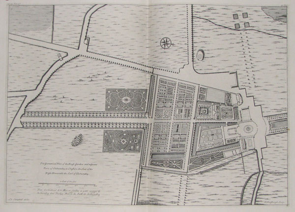 The Geometrical Plan of the House, Gardens and adjacent Parts of Cholmondley in Cheshire, the Seat of the Right Honourable Earl of Cholmondley.