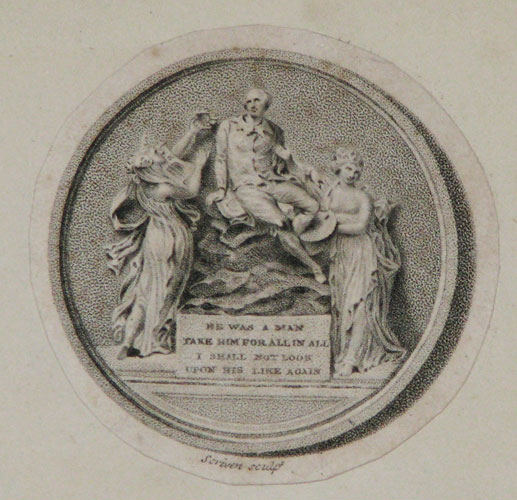 [Printed copy of a medal presented to subscribers to 'The Dramatic Works of Shakspeare' in 9 folio vols., J. & J. Boydell, 1802.]