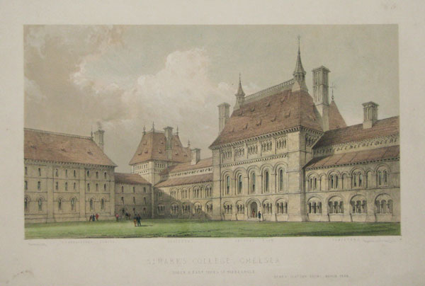 St Mark's College, Chelsea. South & East Sides of Quadrangle. Henry Clutton Arch.t _March, 1848.