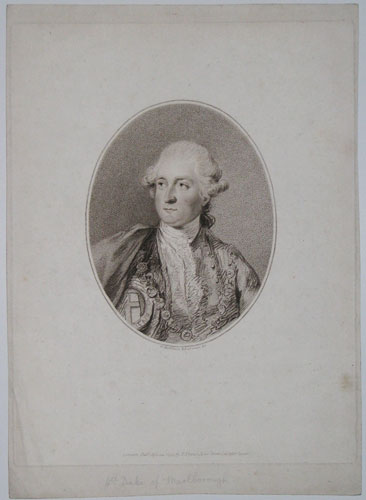 [His Grace the Duke of Marlborough.]