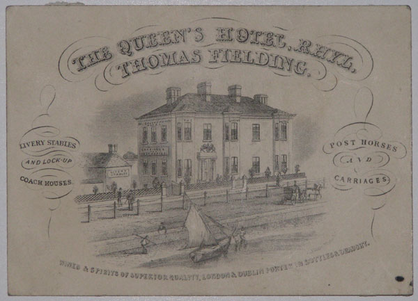 [Trade card]  The Queen's Hotel, Rhyl.