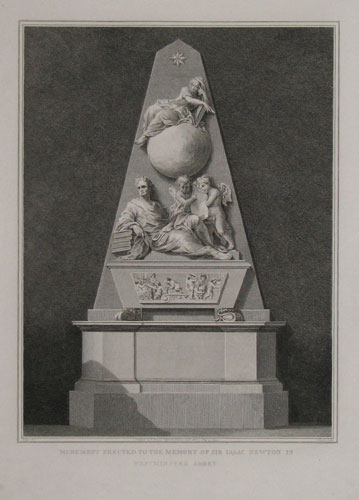 Monument Erected to the Memory of Sir Isaac Newton in Westminster Abbey.
