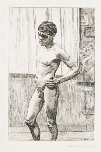 [A young male nude.]