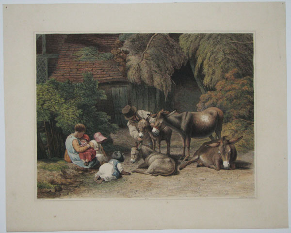 No. 11. [Group of Donkeys, and Rustic Children.]