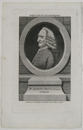 Mr Andrew Brice; Printer of Exeter.