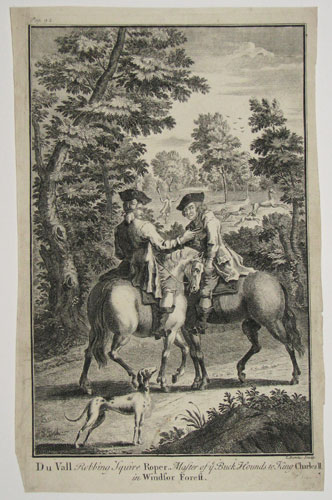 Du Vall Robbing Squire Roper, Master of ye Buck Hounds to King Charles II in Windsor Forest.