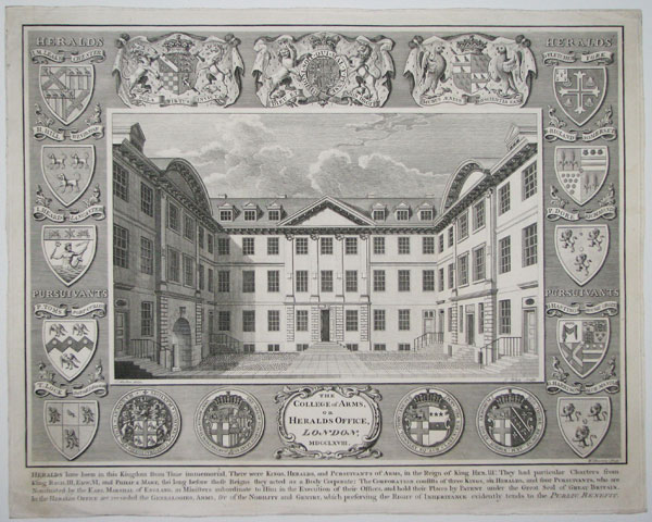 The College of Arms, of Heralds Office, London, MDCCLXVIII.