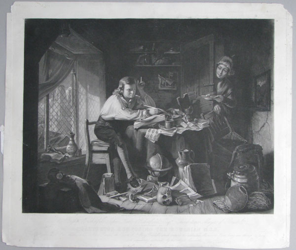 To the Right Worshipful John Kerle Haberfield, Esqre. Third time Mayor of Bristol, This Engraving of Chatterton Composing the Rowleian M.S.S.