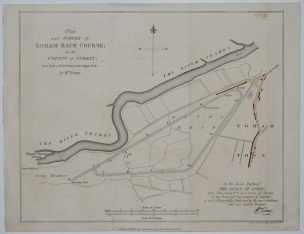 Plan and Survey of Egham Race Course; in the County of Surrey; with Notes Referring to an Appendix; by Wm. Kemp.