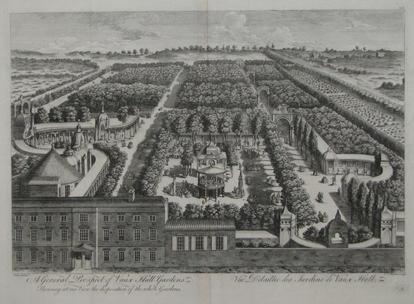 A General Prospect of Vaux Hall Gardens, shewing at one View the disposition of the whole Gardens.