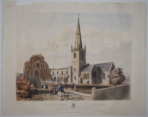 To The Revd. Charles Phillott M.A. Vicar of Frome Selwood, in the County of Somerset, this View of St. Peters Church, Frome. Is most respectfully inscribed by his very Obe.dt Serv.y W.P. Penny.