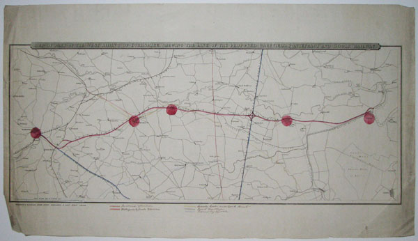 Map of Part of the West Riding of Yorkshire, Shewing the Line of the Proposed Wakefield, Pontefract and Goole Railway.