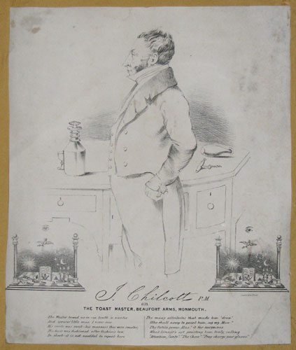 J. Chilcott P.M. 671. The Toast Master, Beaufort Arms, Monmouth.