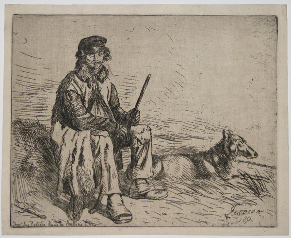 [Shepherd and Dog.]
