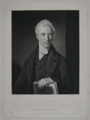 Edward Taylor, Professor of Music in Gresham College. Sheriff of Norwich in 1820.