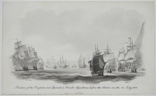 Position of the English, and Spanish & French Squadrons, before the Action on the 12 July 1804.