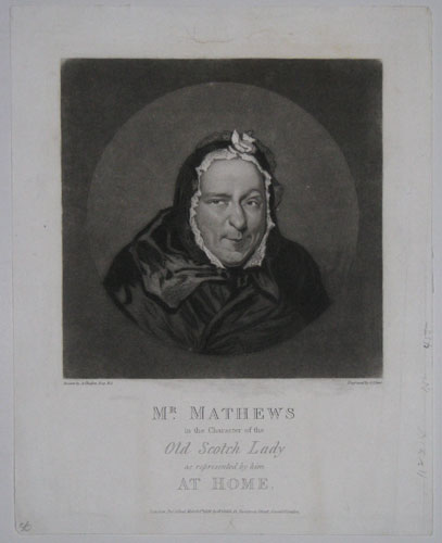 Mr. Mathews in the Character of the Old Scotch Lady as represented by him At Home.