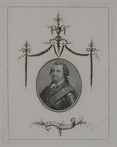 [Portrait of Prince William, Duke of Cumberland, excised and inserted into ornamental cartouche. With title inscribed with ink on a ribbon at base.]