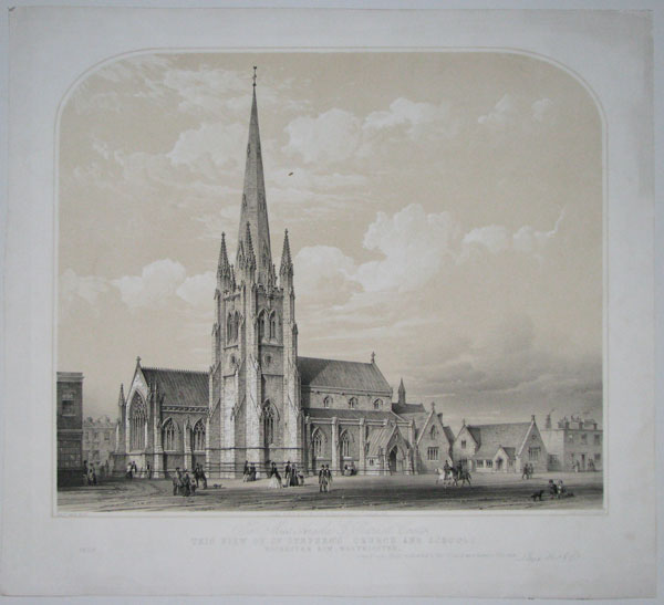 To Miss Angela G. Burdett Coutts. This View of St. Stephen's Church and Schools. Rochester Row, Westminster. is most respectfully dedicated by her obliged and humble Servants, Lloyd Bros. & Co.