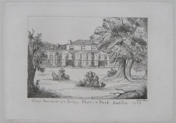 Chief Secretary's Lodge, Phoenix Park, Dublin. 1835.