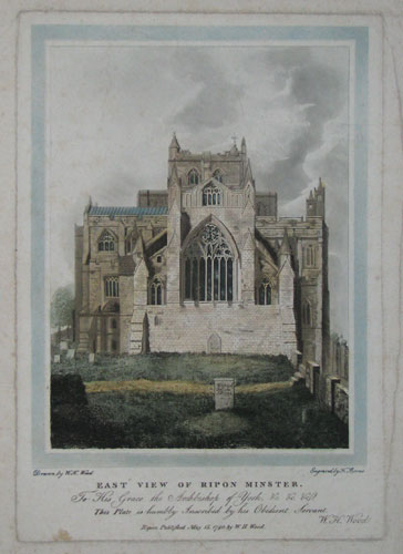East View of Ripon Minster.