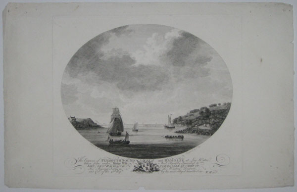 The Entrance of Plymouth Sound and Hamoaze at Low Water taken from under Mount Wise. Most Humbly Inscribed to Lieu.t Gen.l Haviland, Commander in Chief of His Majesty's Forces in the Western District, and Col: of the 45th Reg.t by his most obliged humble