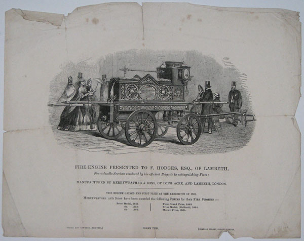 Fire-Engine Presented to F. Hodges, Esq., of Lambeth,