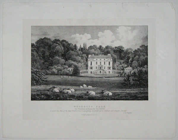 Woodcote Park. The Residence of Baron de Teissier. To whom this View of the East Front is most respectfully inscribed by his obedient and obliged Servant. G.F. Possner.