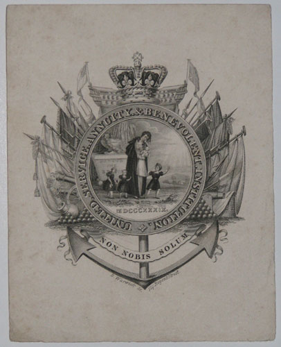 [Bookplate/stationary]  United Service Annuity & Benevolent Insttution.