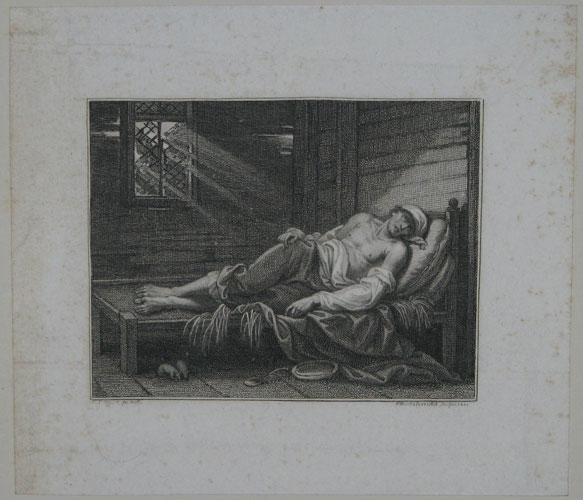 [A pauper lying in bed; possibly the boy poet Thomas Chatterton?]