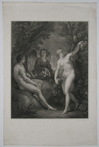[Adam, Eve and the Archangel Gabriel.]
