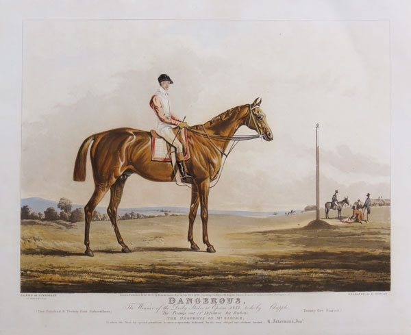 Dangerous, Winner of the Derby Stakes at Epsom 1833, Rode by Chapple,