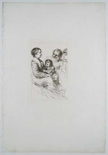 [A woman and her child, with two men.]