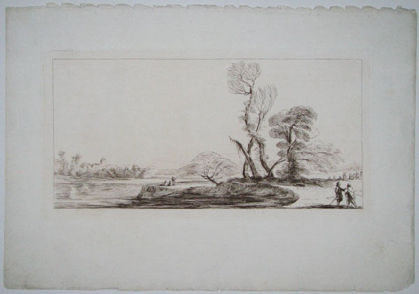 [Landscape with a river.]