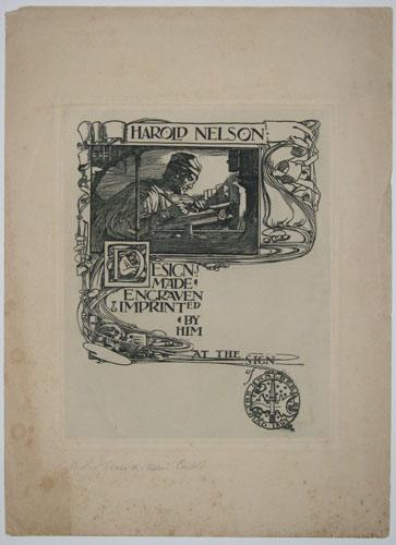 Harold Nelson: Designs Made, Engraven & Imprinted by Him at the Sign of the Halberd. A.D. 1895.