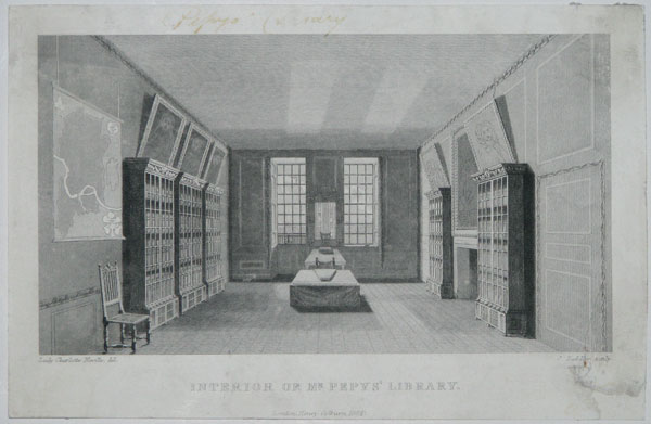 Interior of Mr. Pepys' Library.