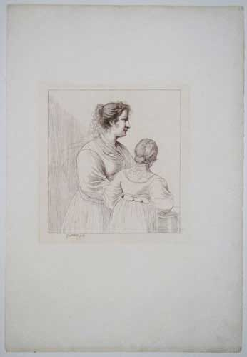 [A woman and young girl.]