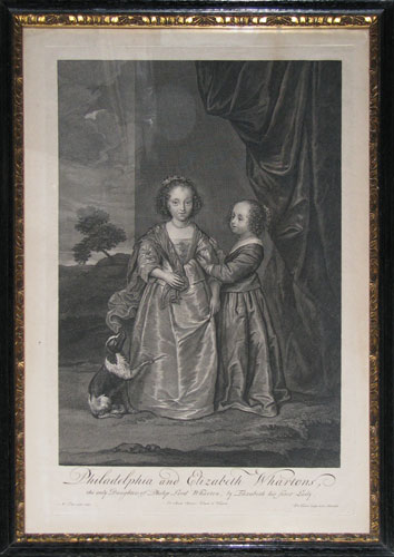 Philadelphia and Elizabeth Whartons, the only Daughters of Philip Lord Wharton, by Elizabeth his first Lady.