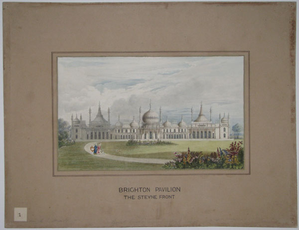 Brighton Pavilion. The Steyne Front. [Old ink mss.]