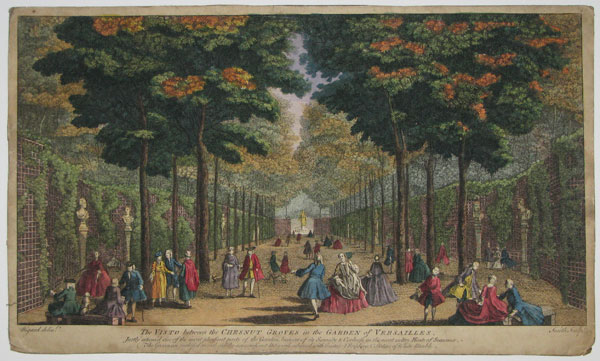 The Visto between the Chesnut Groves in the Garden of Versailles.