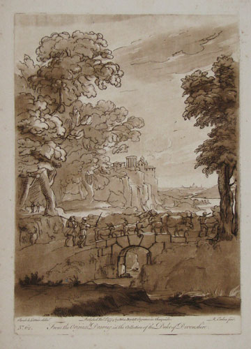 [Italianate pastoral scene.] From the Original Drawing in the Collection of the Duke of Devonshire. No 62.
