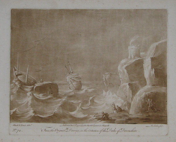 [Shipwreck in a storm.] From the Original Drawing in the Collection of the Duke of Devonshire. No 72.