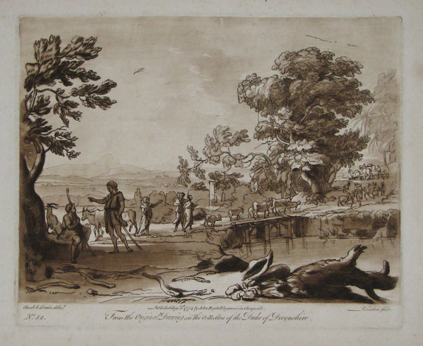 [Pastoral scene.] From the Original Drawing in the Collection of the Duke of Devonshire. No 52.