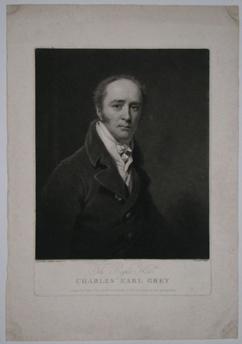 The Right Hon.ble Charles Earl Grey.