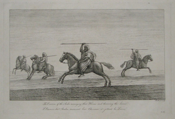 The Exercise of the Arabs managing their Horses and throwing the Lance.