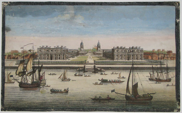 [A View of the Royal Hospital at Greenwich.]