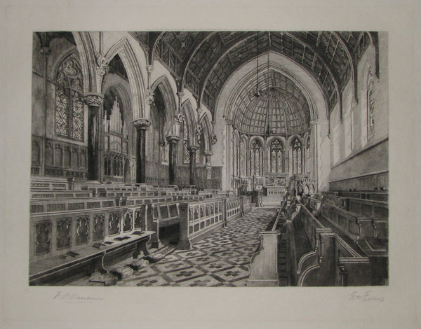 "[Clifton College. ____ ""Interior of the Chapel from the South-West corner"".]"